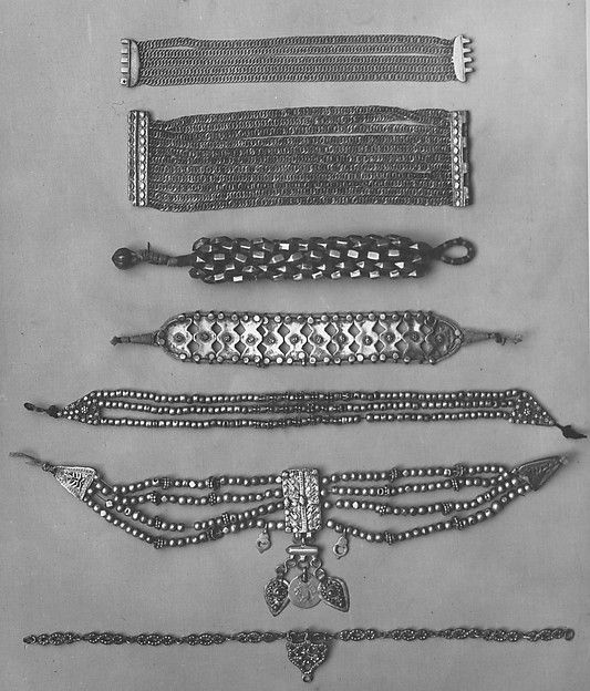 19th century jewelry from Yemen, India, and the Balkans.  Acquired by the Met Museum in 1891 from the Edward C. Moore Collection