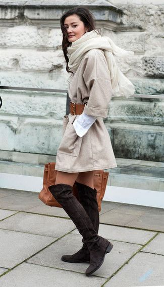 Braune Overknee Stiefel Fur Damen Kombinieren Modetrends Und