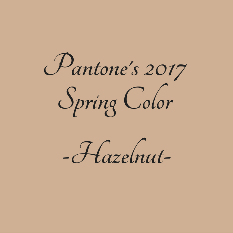 It's our last #inspiration 2017 #Pantone spring colors installment. We are finishing with the beautiful color of #Hazelnut.