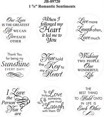 Introducing Justrite Romantic Sentiments Card Sayings Verses