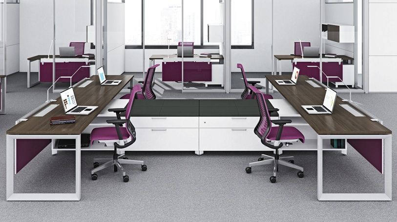 Answer Furniture Systems Office Workstations Used