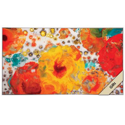 """OUTBURST II, #4753, size 20""""x36"""" nice for the foyer wall would be a punch of color"""