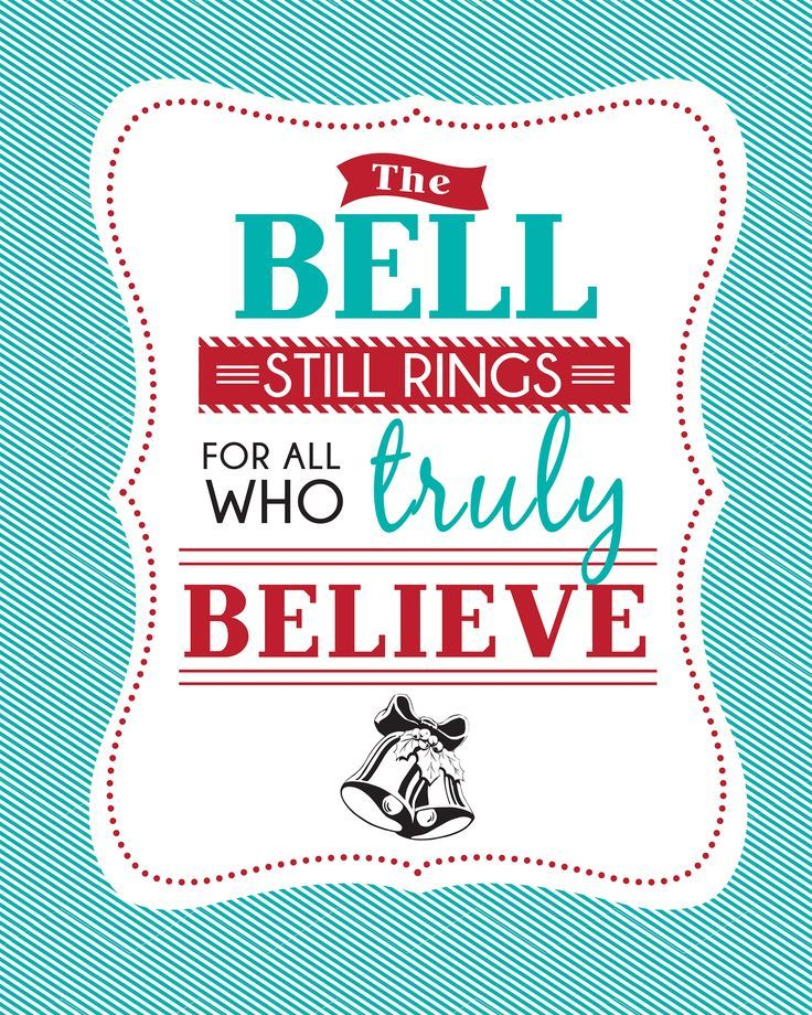 It is a photo of Modest The Bell Still Rings for Those Who Truly Believe Printable