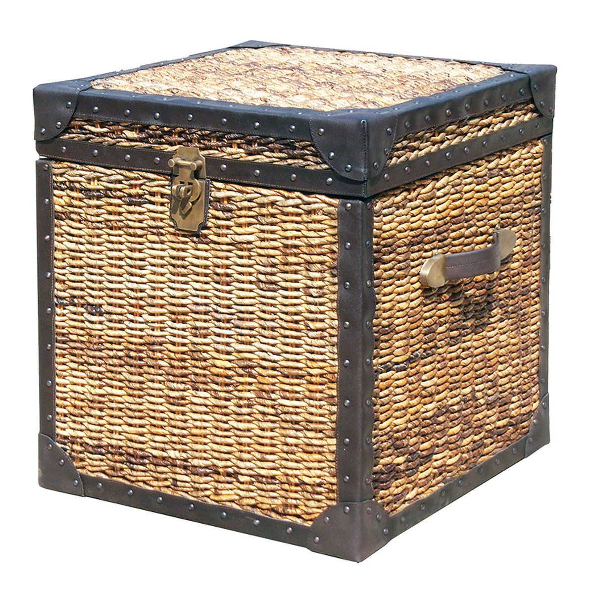 Seagrass Woven Trunk Side Table Trunk Side Table Woven Trunk Coffee Table Trunk