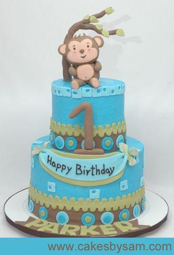 1st Birthday Baby Boy Monkey Theme 1st Birthday Monkey Boy Cake