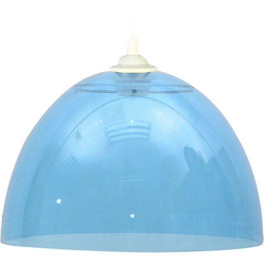 H Suspension Buzzi Bleu 75 Watts Diam 25 Cm Suspension Luminaire Luminaire Parement Mural