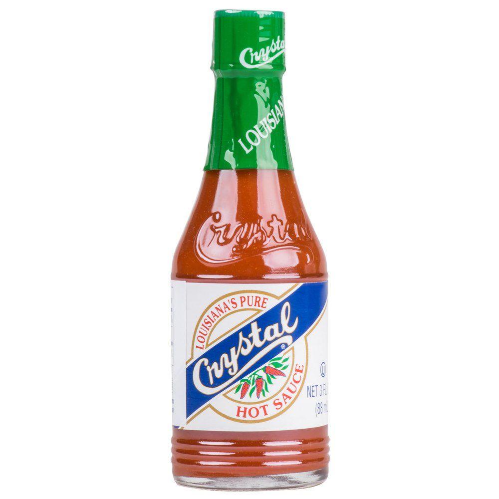 Crystal 3 oz hot sauce 24case hot sauce hot spice