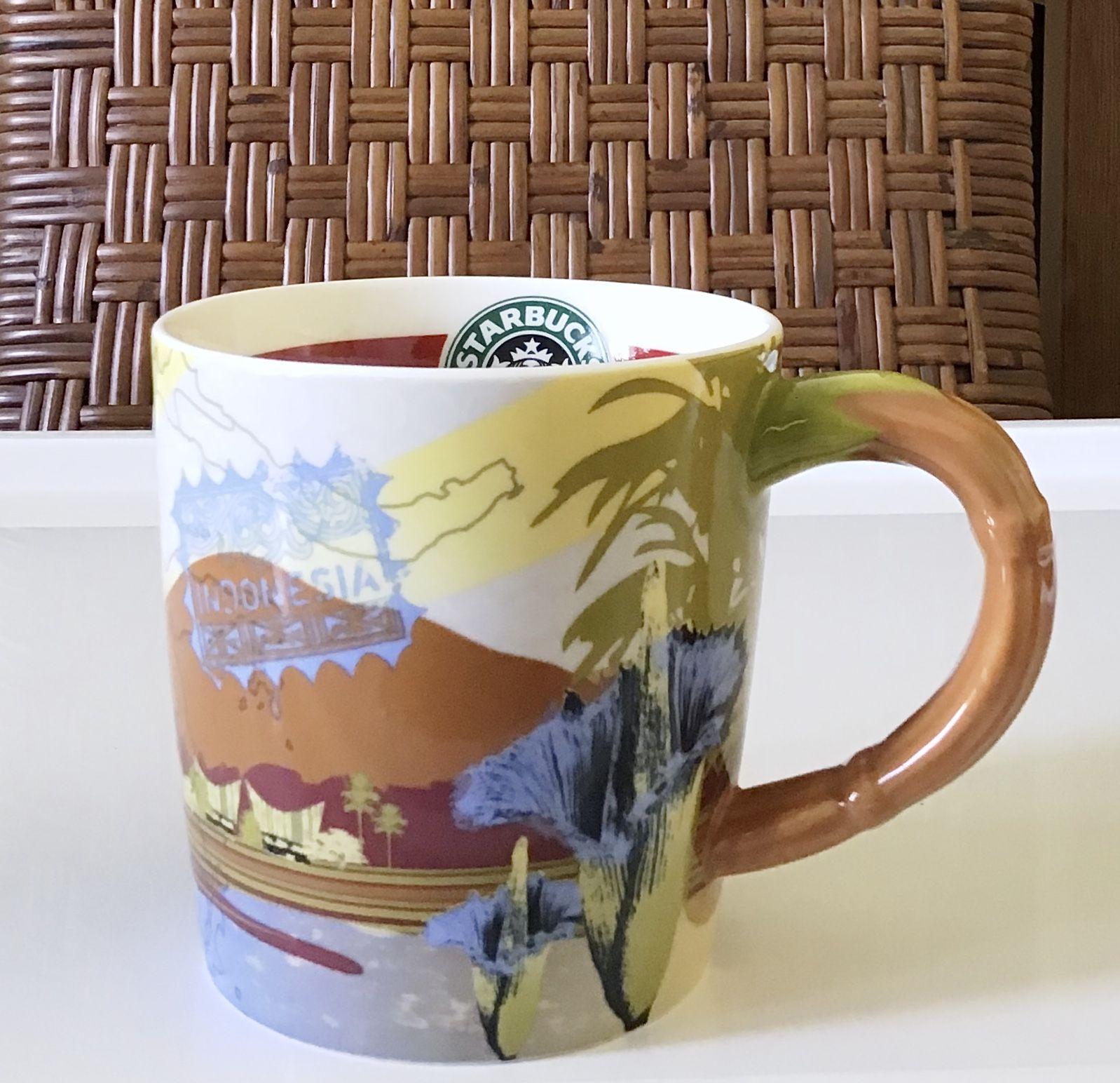 星巴克 2009 咖啡的故鄉之印度尼西亞 早餐 郵戳 馬克杯 12oz Coffee origin