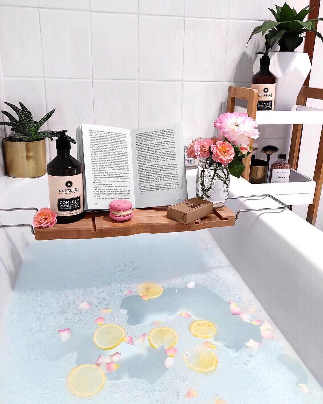Kmart bath caddy bathroom styling inspiration via @leerachel