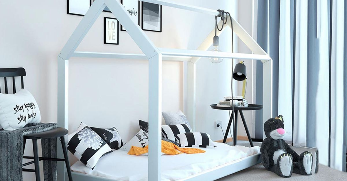 Tree House Style Bed Frame With Optional 5 Spring Mattress Kid