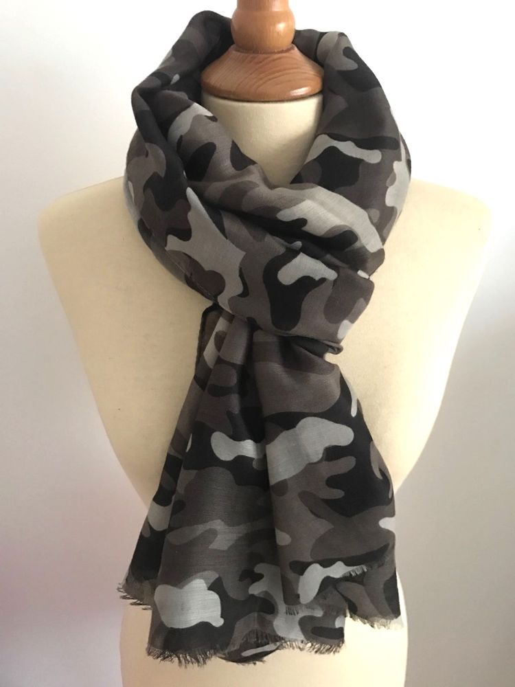Foulard echarpe cheche camo camouflage armee militaire gris fonce ... 2af9ef9d0816