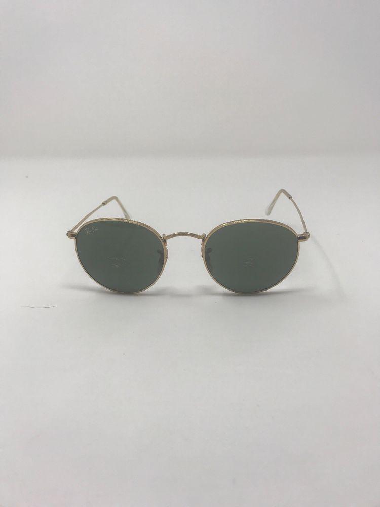 Ray-Ban 50mm Vintage Round Metal Gold Framed Sunglasses Green (RB3447001)  BG56   6b8a47111484