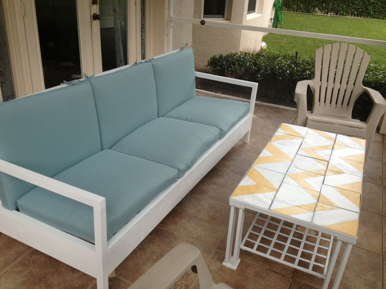 Ana White Simple White Patio Sofa DIY Projects Patio