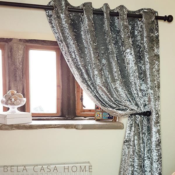 Bela Casa Home Silver Crushed Velvet