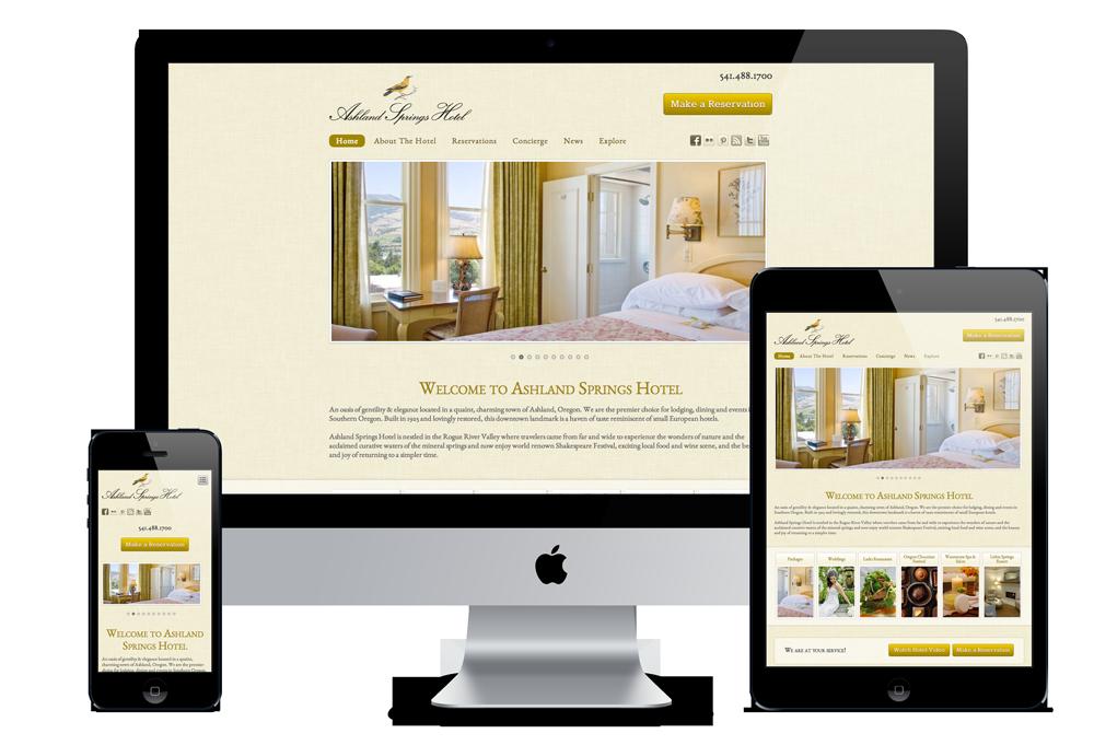 Ashland Springs Hotel Http Www Ashlandspringshotel Com Responsive Professional Web Design Web Design Company Web Design
