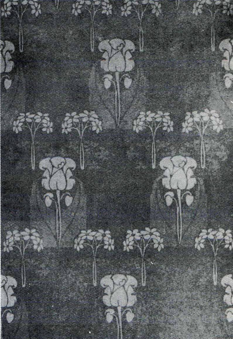 'Yetminster' wallpaper design by Harry Napper, Produced in 1906.