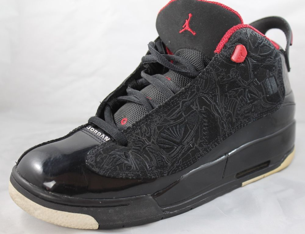 4979521c0769 NIKE AIR JORDAN Dub Zero Black Varsity Red White Shoes 311047-061 Sz 6.5Y   Nike  Athletic