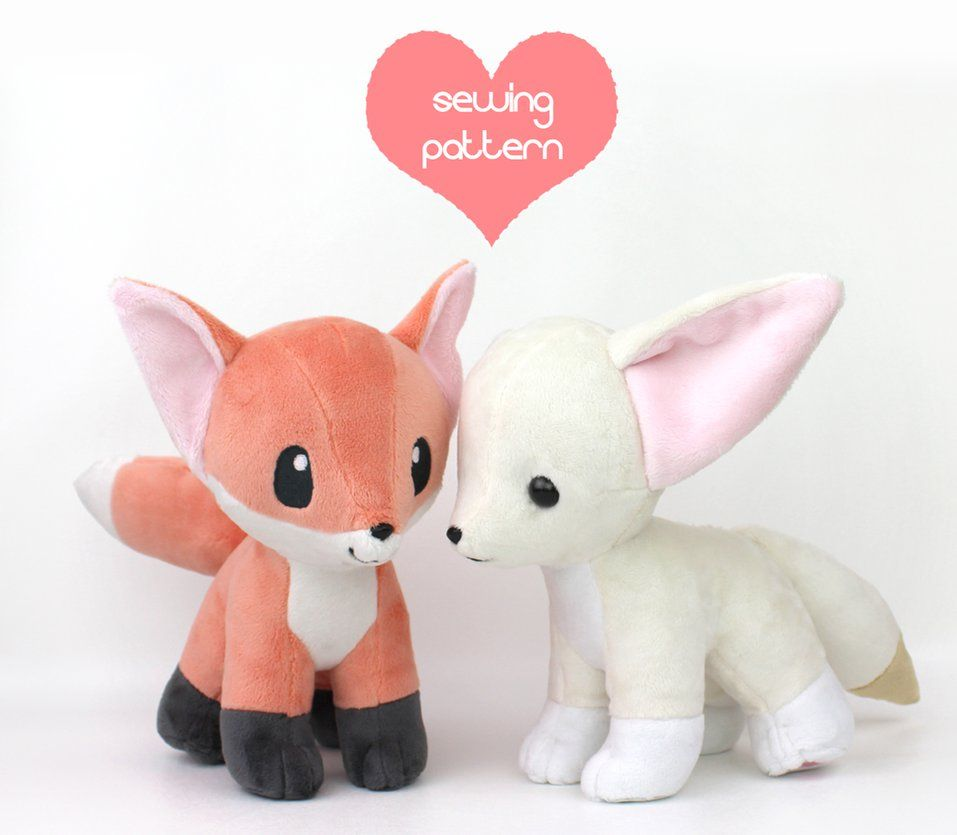 Free Vulpix plushie pieces pattern & tutorial: www.teacuplion.com ...