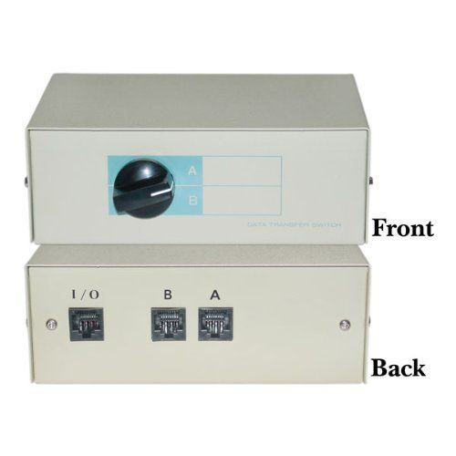 SANOXY A/B Modular Switch Box, RJ45 (8x8) - 2 Way by Generic. $14.97