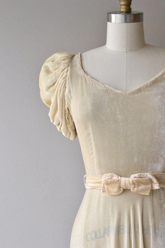 Latendresse dress   vintage 1930s wedding dress   silk velvet 30s ...