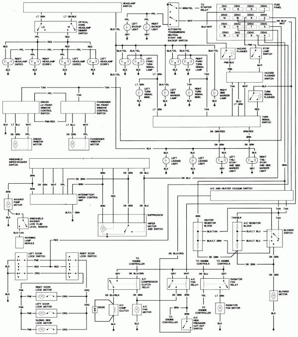 1998 Lincoln Town Car Alternator Wiring Diagram And Town