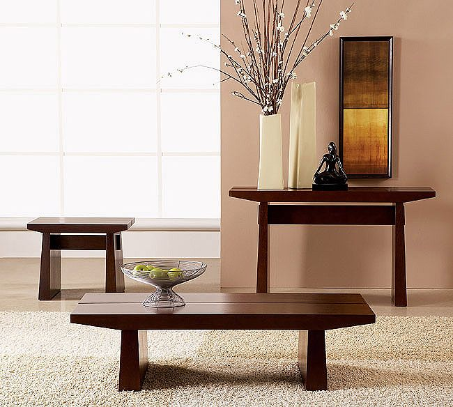 Eastern Influence With Western Style Comfort Asian Coffee Table And End