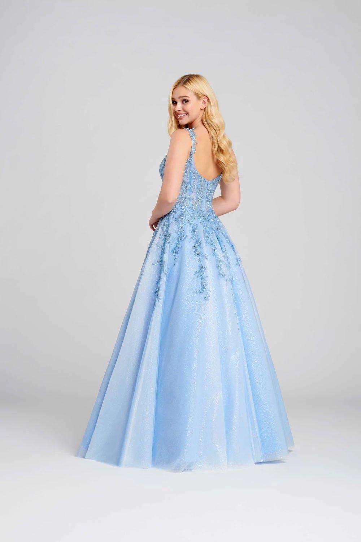 Ellie Wilde Ew120014 Dress In 2021 Periwinkle Prom Dress A Line Gown Ellie Wilde Prom Dresses [ 1500 x 1000 Pixel ]