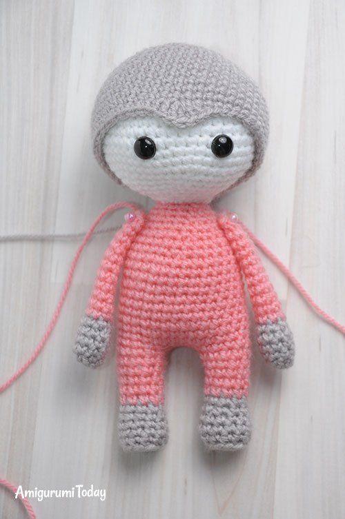 Amigurumi muñeca en vestido de mariposa - patrón de crochet libre ...