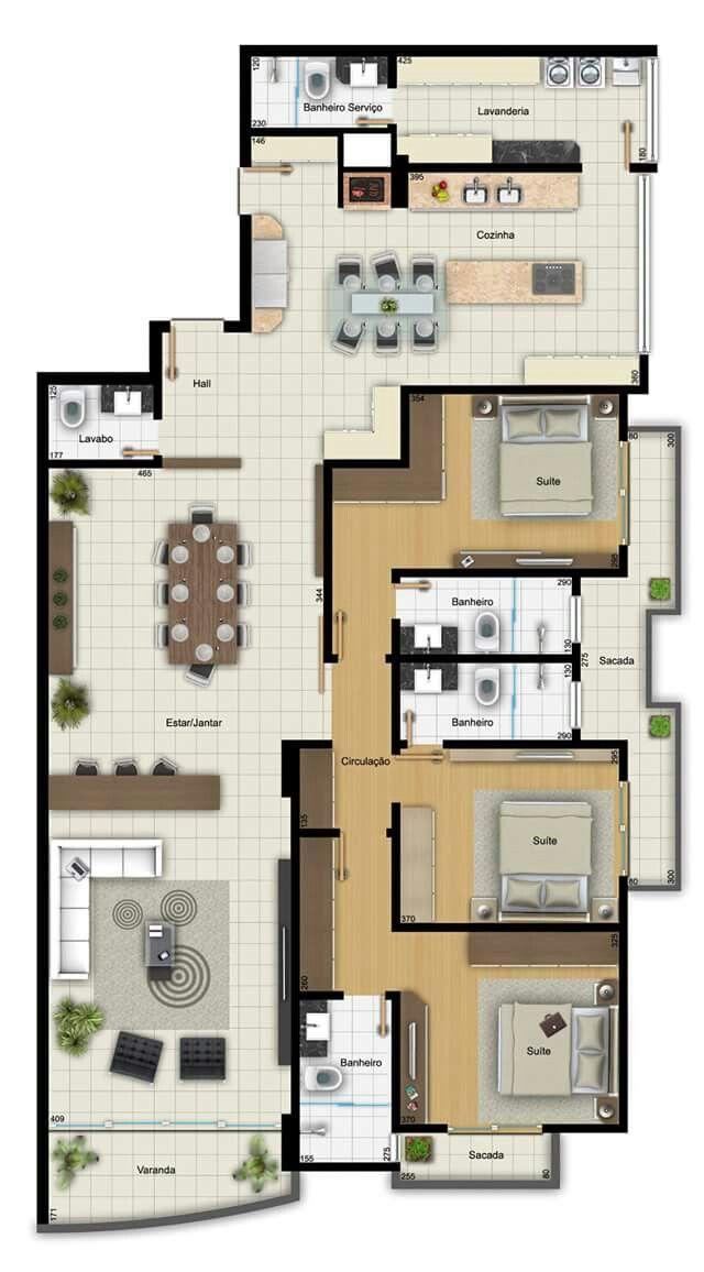 Planos hogar en 2018 pinterest planos casas y plantas for Planos de apartamentos modernos