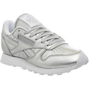 reebok classic sneakers with metallic heel detail