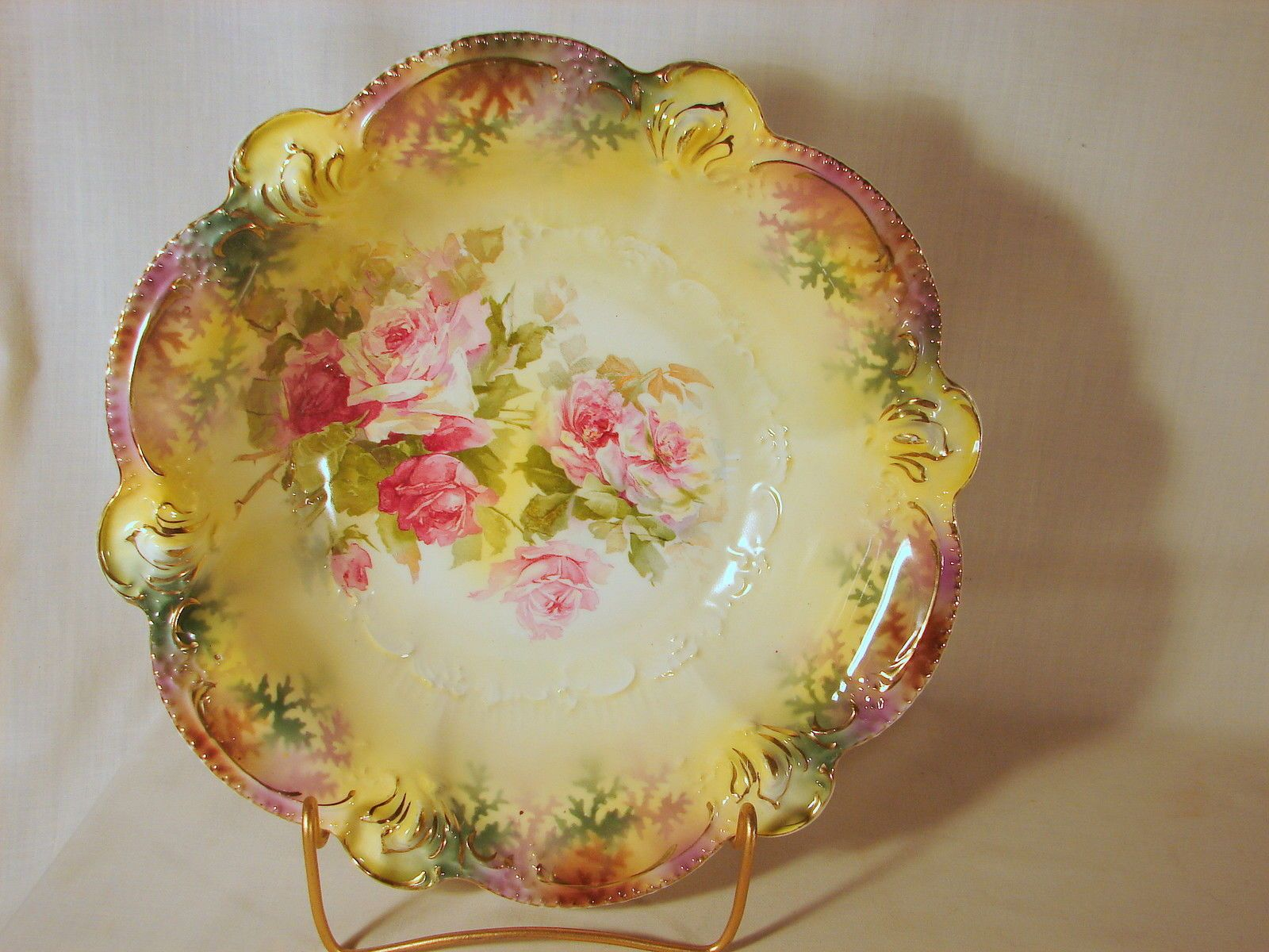 RS Prussia Floral Decorated  Bowl Mold 207