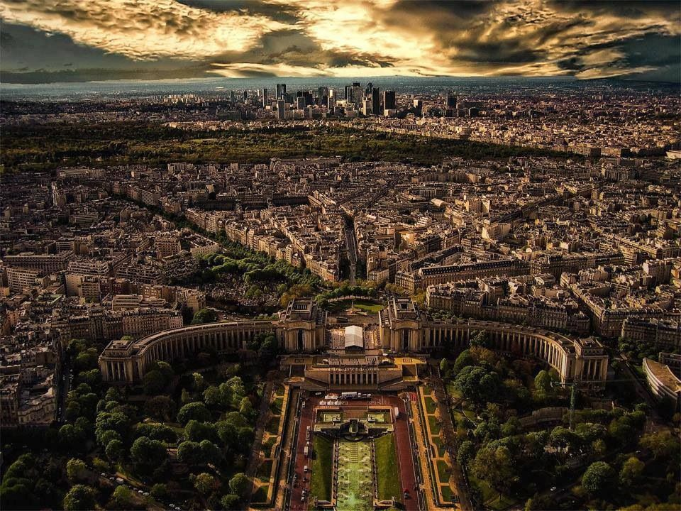The view from le Tour Eiffel