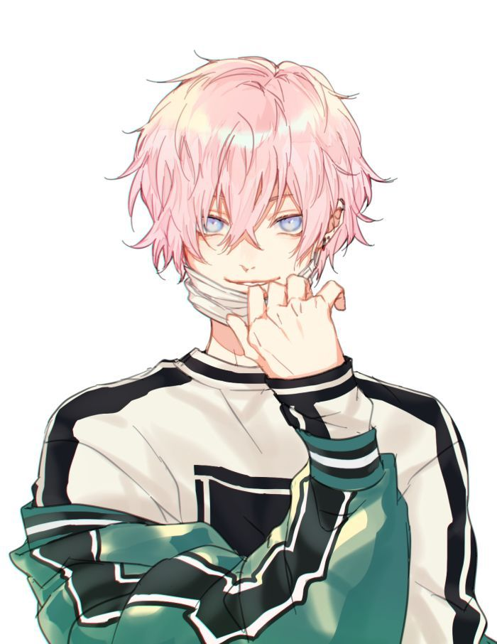 Animeboy Hot Mask Pinkhair Animeboy Pinkhair Cute Anime Guys Anime Drawings Boy Cute Anime Boy