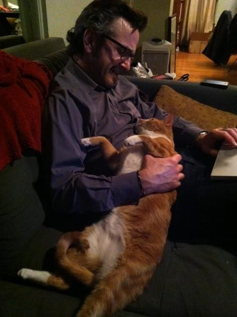 Marc Maron Monkey Posted On Twitter Marc Maron Men With Cats Cat People