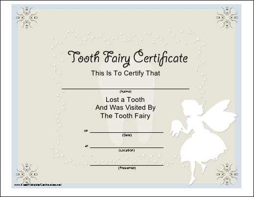 Tooth fairy certificate i print on vellum to make it fairy like munchkins and mayhem free printable tooth fairy letters invoice certificate and receipt yadclub Images