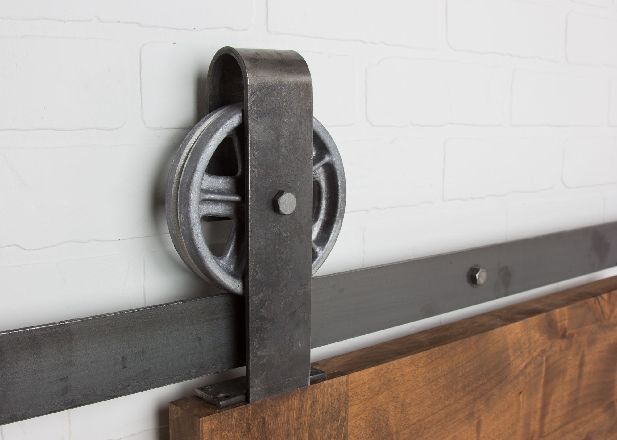 Vintage Top Mount Barn Door Hardware Sliding Kit