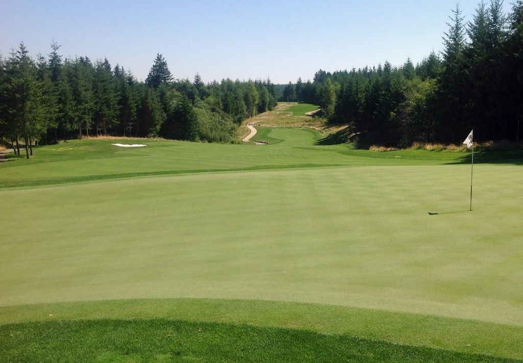 Washington is where you'll find Salish Cliffs Golf Club. Open to the public it is part of the Little Creek Casino Resort.