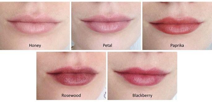 Alima Pure Lip Tint Swatches