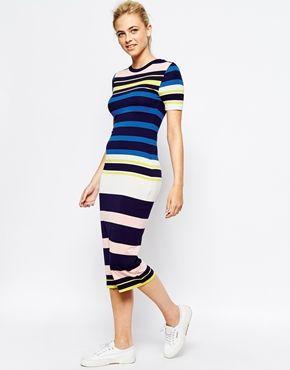 b3fbebac91f6 Oasis Stripe Midi Column Dress