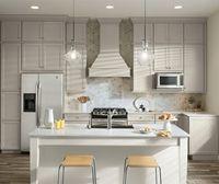 Durham Glacier Grey Cabinets Grey Kitchen Floor Kitchen And Bath Design Kitchen Cabinet Design