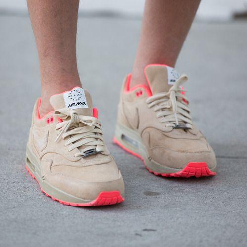 sports shoes 1d58b d9b3a NIKE AIR MAX. Nike Air Max 1 HomeTurf Milan - Linen, Atomic Red ...