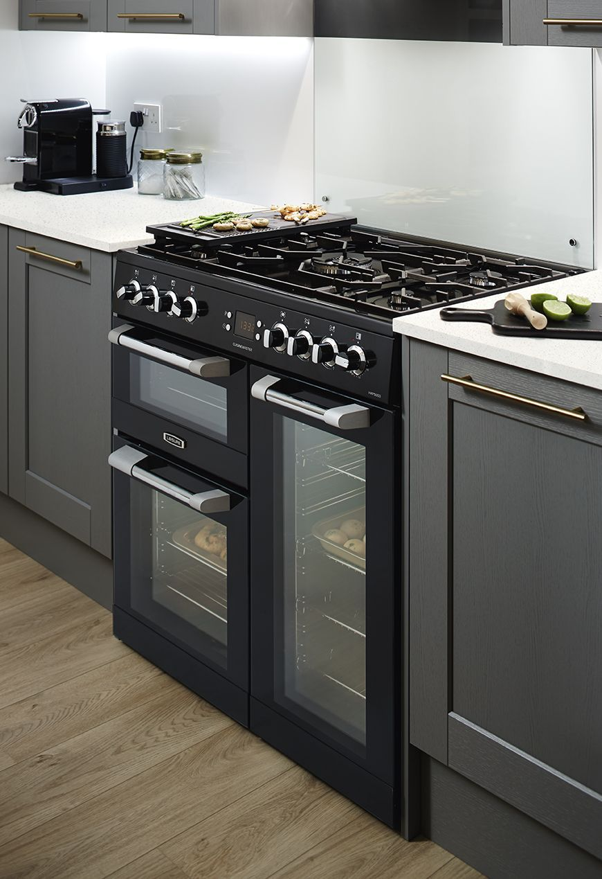 Finish Your Fairford Graphite Shaker Style Kitchen With The Leisure Black Range Coo Shaker Style Kitchen Cabinets Kitchen Cabinet Design Kitchen Cabinet Styles