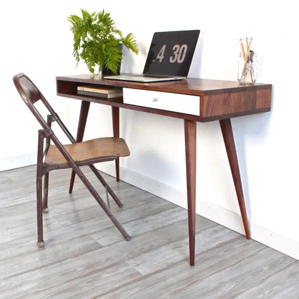 Remodelaholic Diy Mid Century Modern Desk In 2020 Mid Century Modern Desk Mid Century Desk Modern Desk