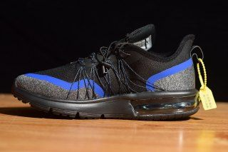 6ded5bd98bd Mens Nike Air Max Sequent 4 Running Shoes Utility Black Racing Blue Light  Grey Metal Silver AV3236 005