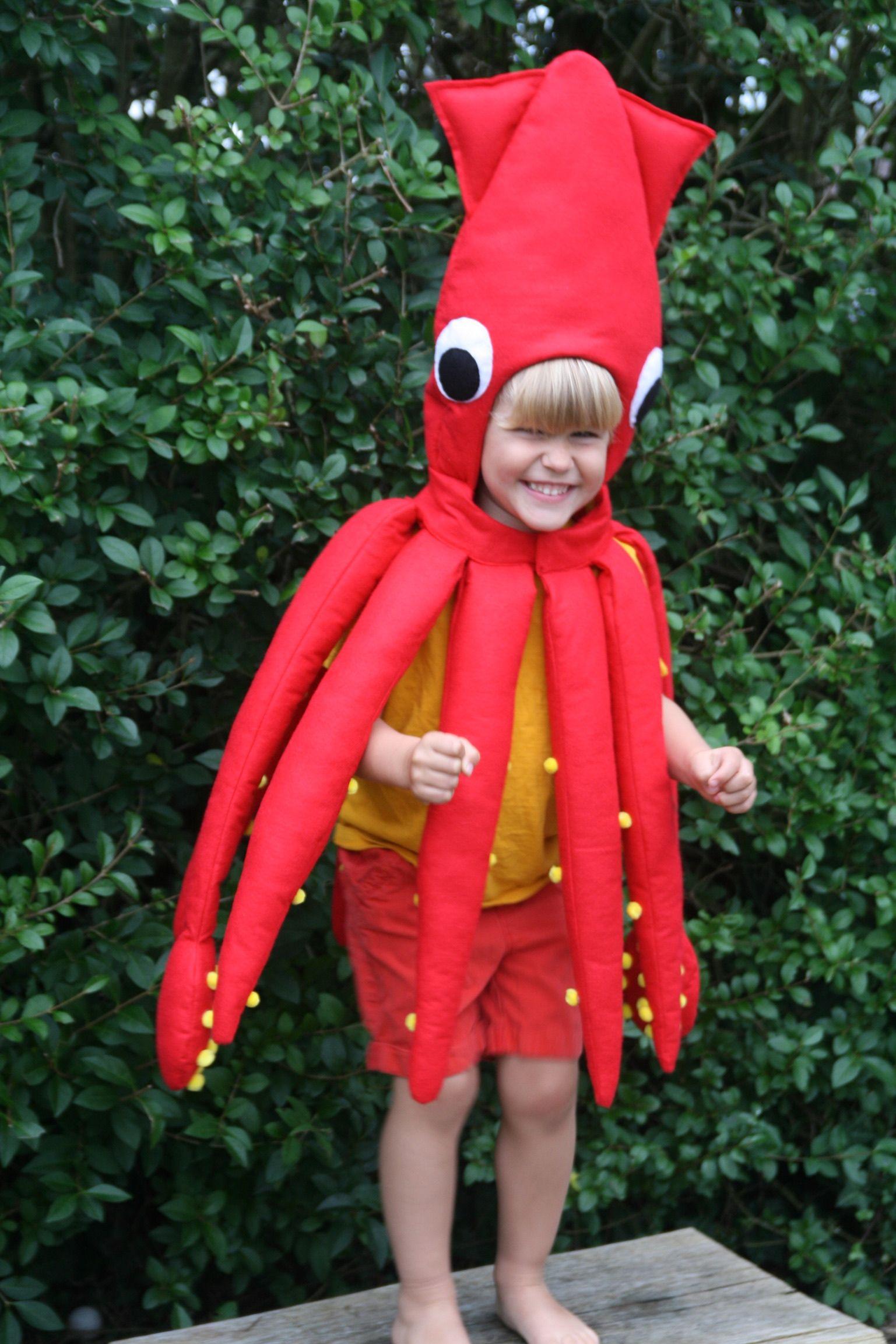 2315e0b0 Squid Costume, giant squid, squid dress up | Handmade Kids Costumes ...