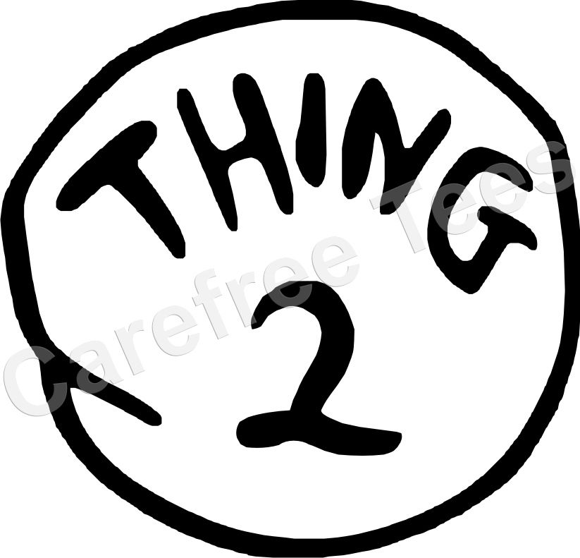Thing 1 And Thing 2 Printables Dr Seuss Thing 1