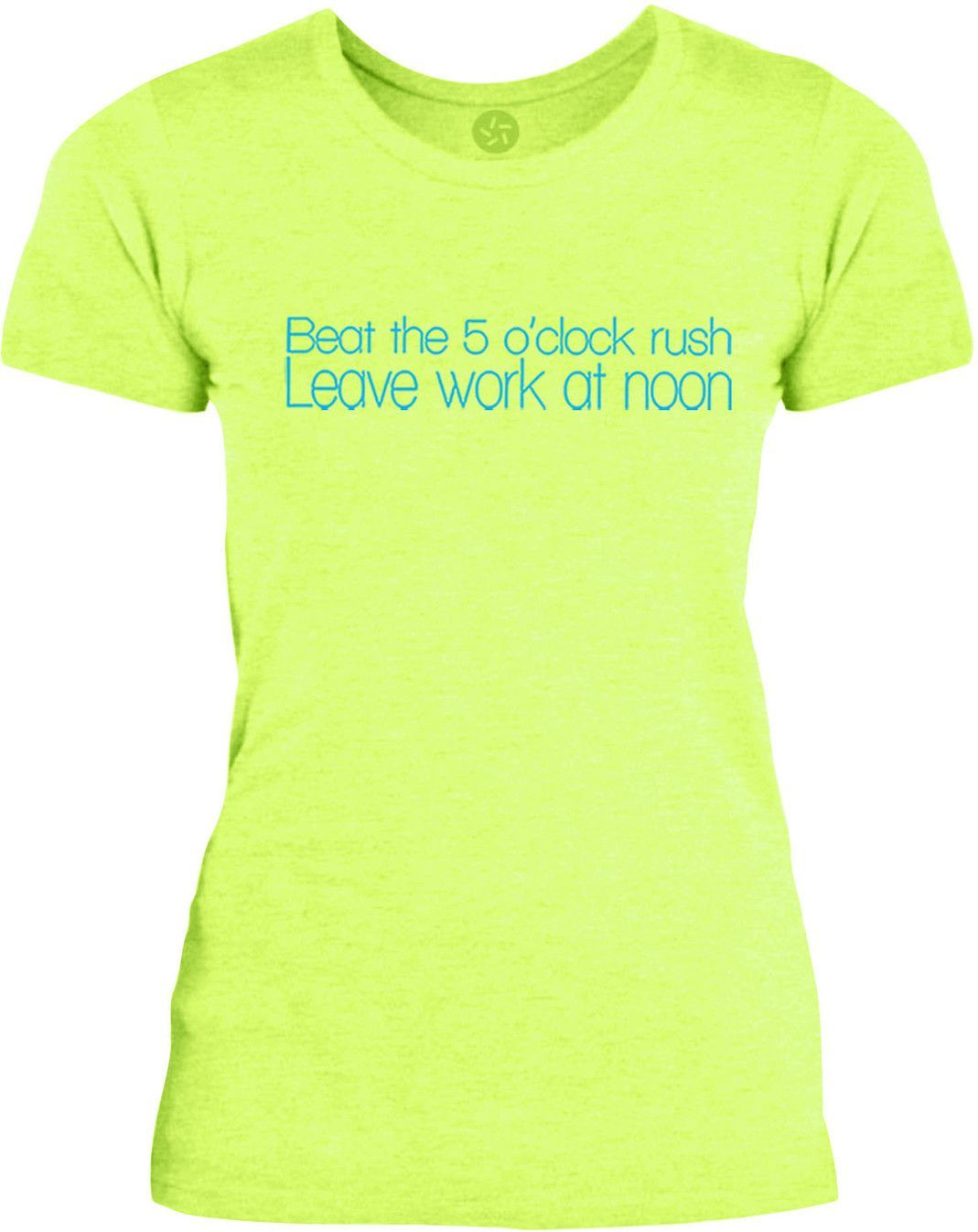 Big Texas Leave Work at Noon (Blue) Womens Fine Jersey T-Shirt