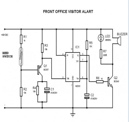 door opening alarm circuit