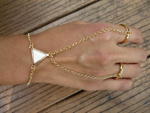 Gold Ring Bracelet by JuliLand on Etsy wanelo