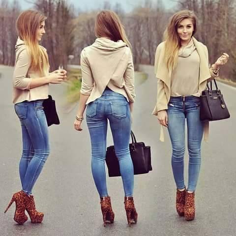Pantalon Mezclilla Pantalones De Mezclilla Camisa De Moda Moda Para Mujer